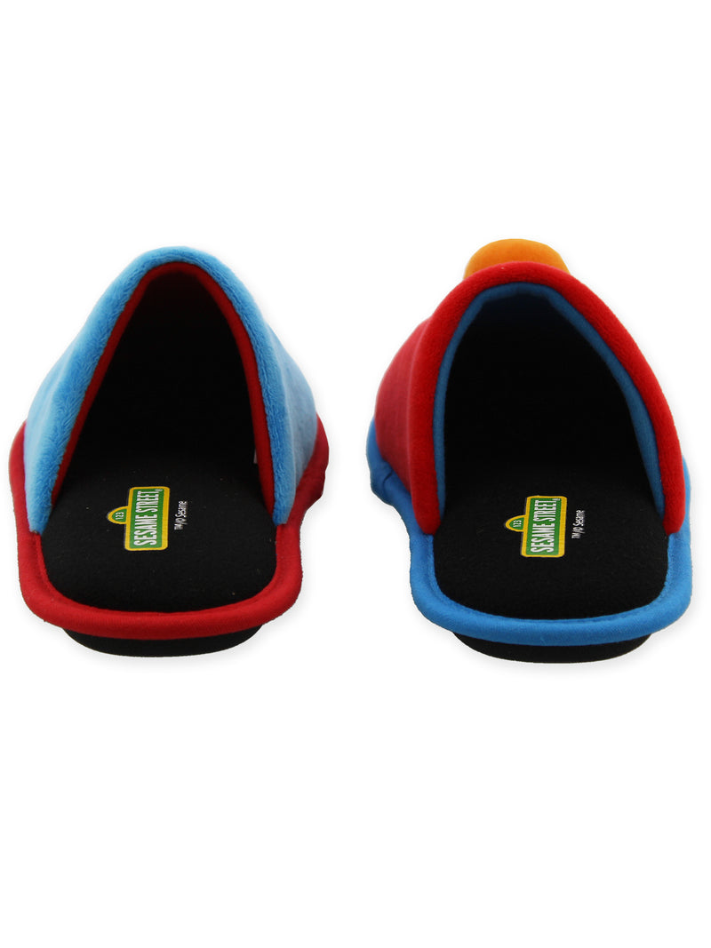 Sesame Street Elmo and Cookie Monster Mismatched Youth Adult Scuff Slide On Slipper