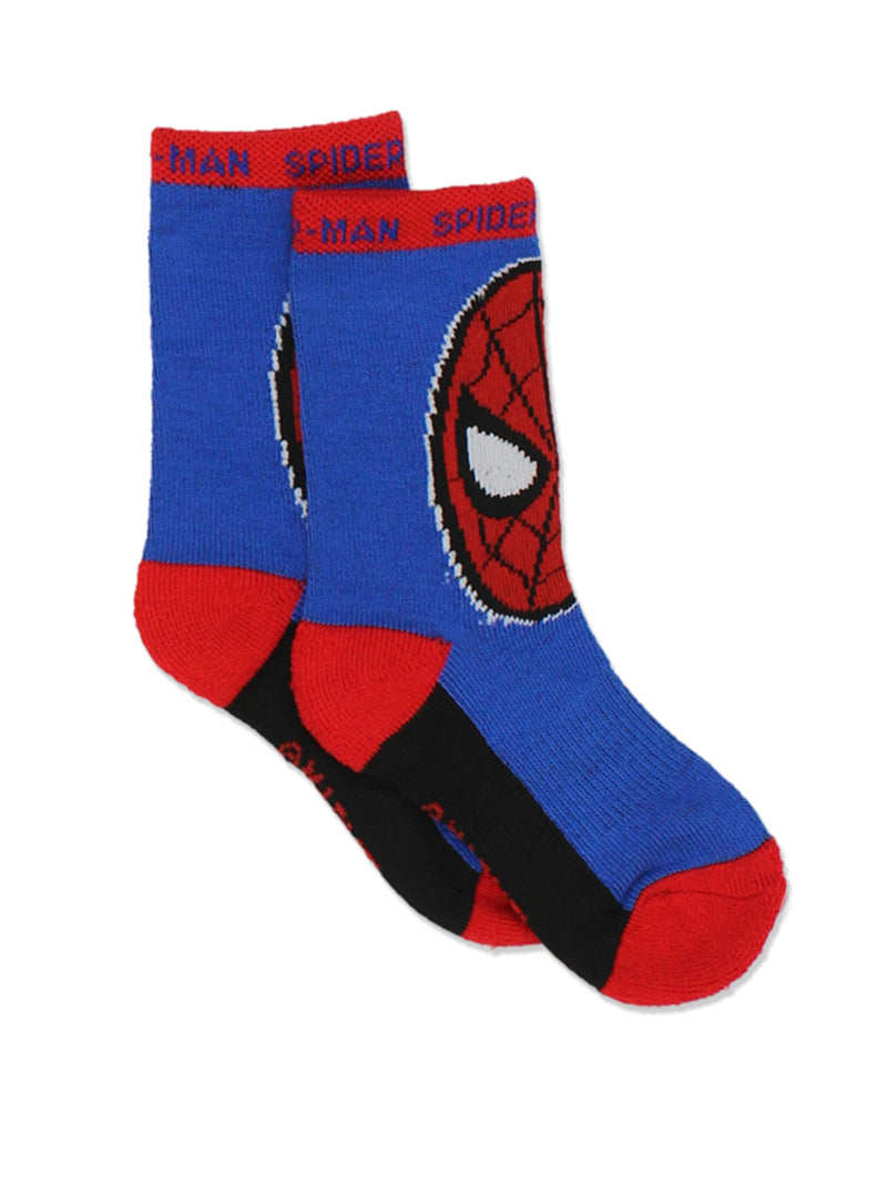 Super Hero Adventures Spider-Man Boys Toddler 6 pack Crew Socks