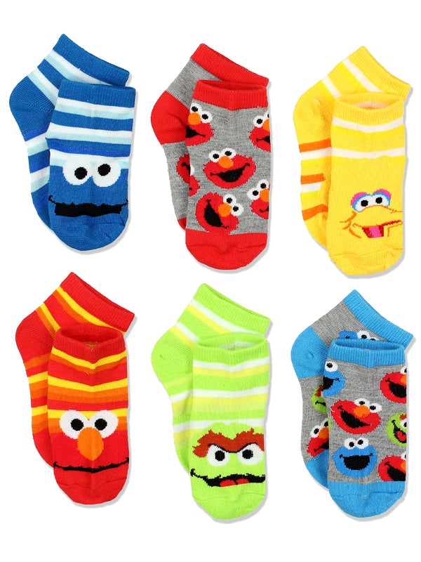 Sesame Street Toddler Boys 6 pack Socks Set