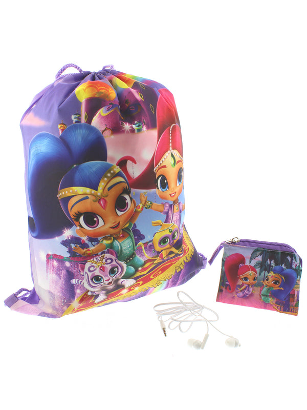 Shimmer & Shine Girls Backpack Headphones and Coin Purse Boxed Gift Set