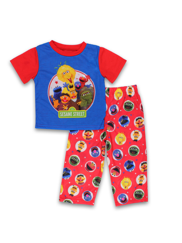Sesame Street Elmo Toddler Boys 2 piece Short Sleeves Pants Pajamas Set