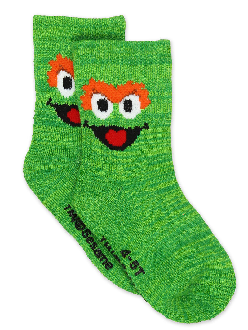 Sesame Street Elmo Baby Toddler Boys Girls Multi Pack Crew Socks with Grippers