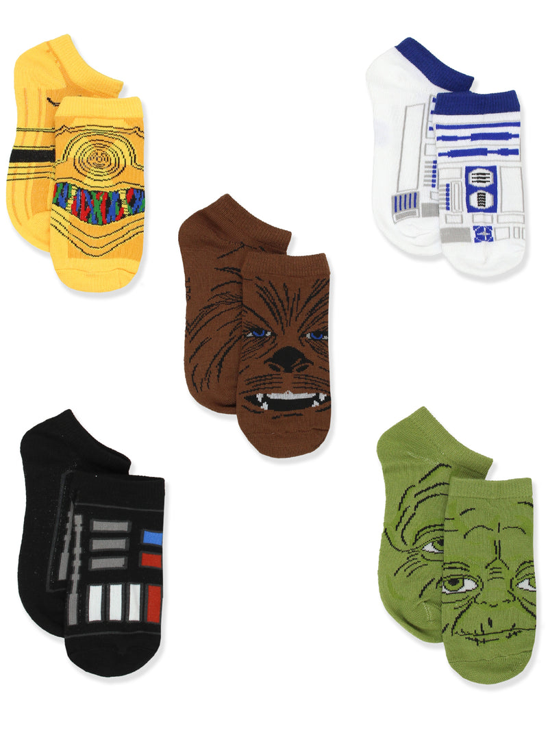 Star Wars Boys 5 pack No Show Socks