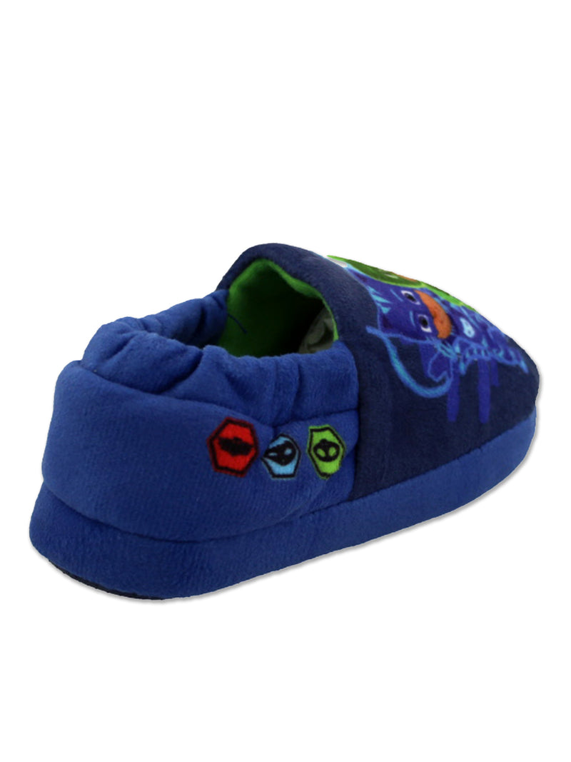 PJ Masks Boys Toddler Plush Aline Slippers with Non Slip Rubber Sole