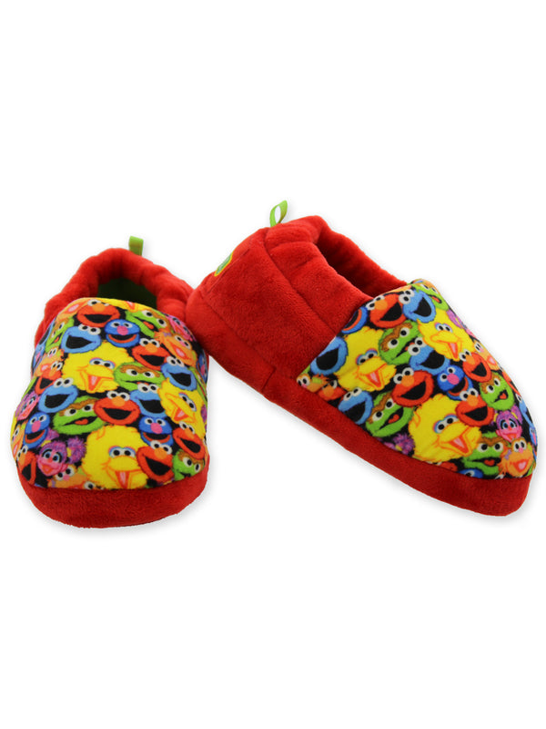 Sesame Street Elmo Boys Girls Aline Slippers with Indoor/Outdoor Sole