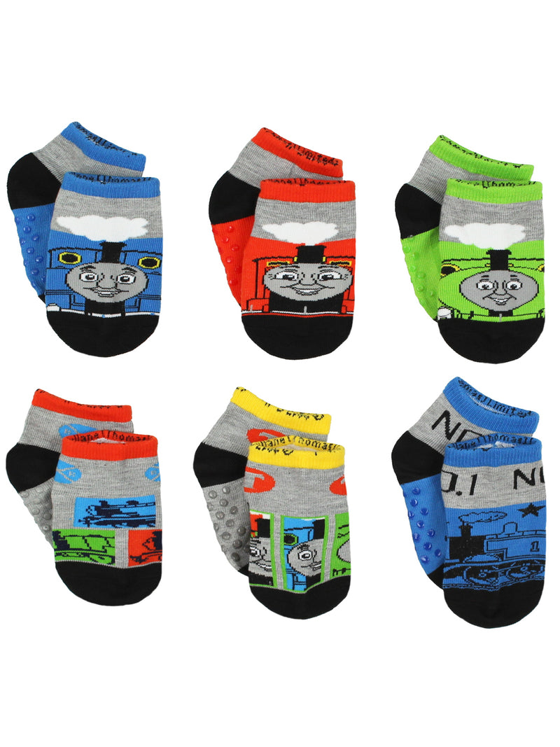 Thomas and Friends Toddler Boys 6 pack Gripper Socks Set