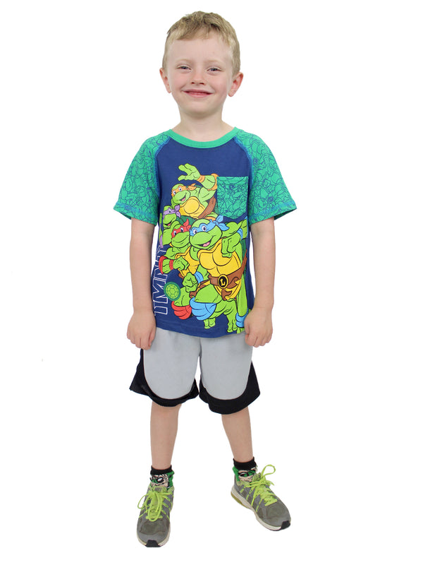 TMNT Teenage Mutant Ninja Turtles Toddler Boy's 2 Pack Short Sleeve T-Shirt Set
