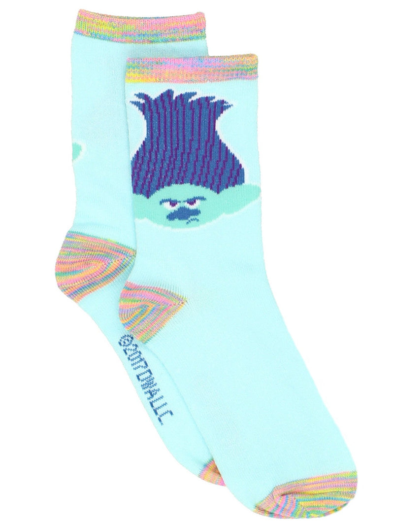 Trolls Girls Womens 3 pack Crew Socks Set