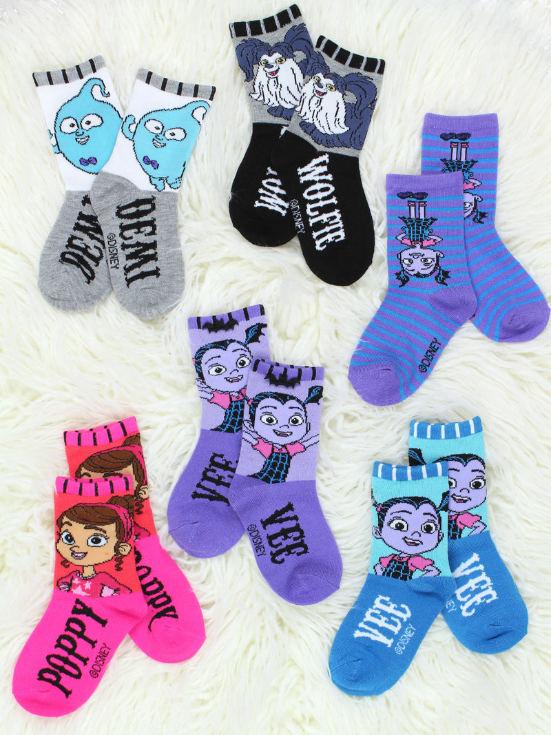Vampirina Girls Toddler 6 pack Crew Socks