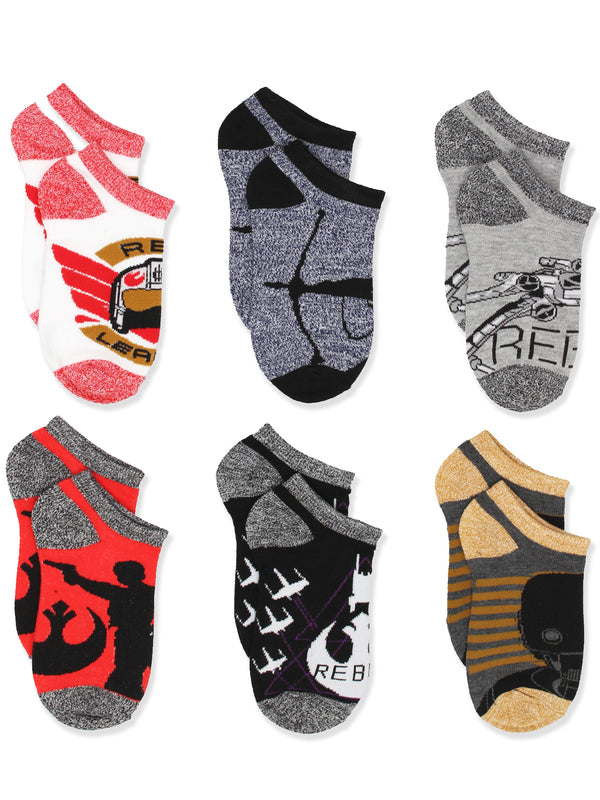 Star Wars Boys Teen Adults 6 pack Socks Set