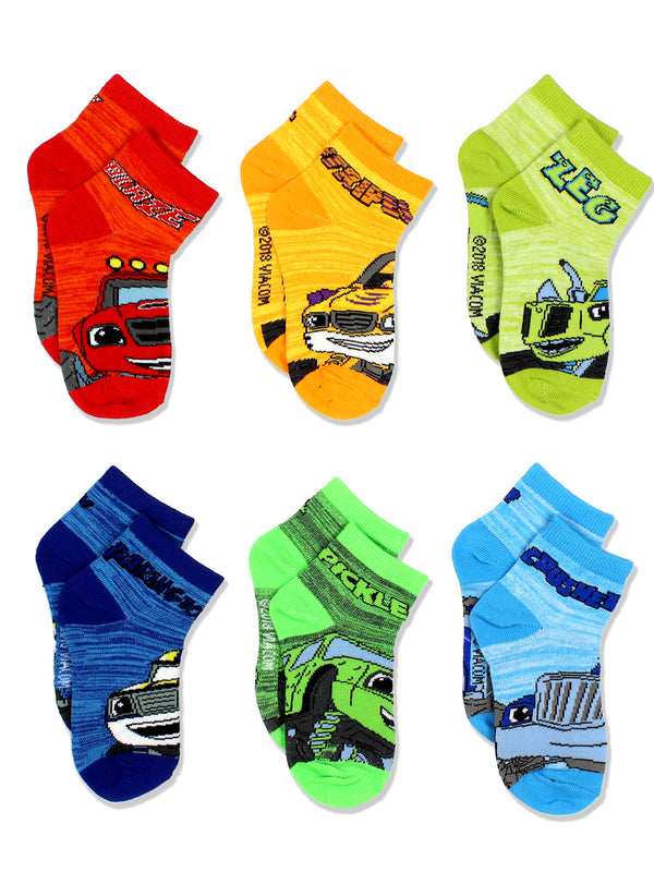 Blaze and the Monster Machines Toddler Boys 6 pack Socks