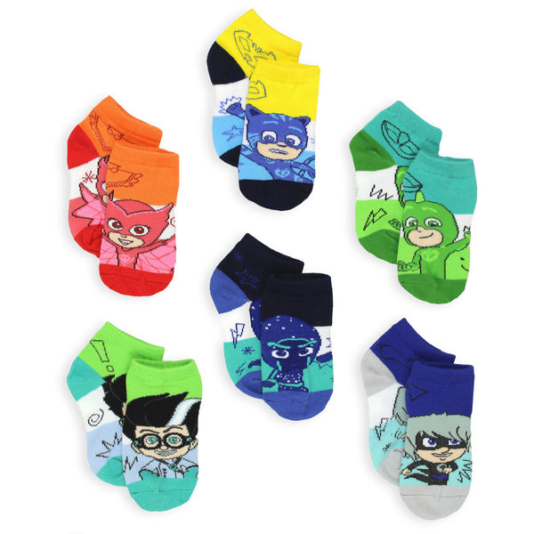 PJ Masks Boys Girls Toddler 6 Pack Quarter Socks