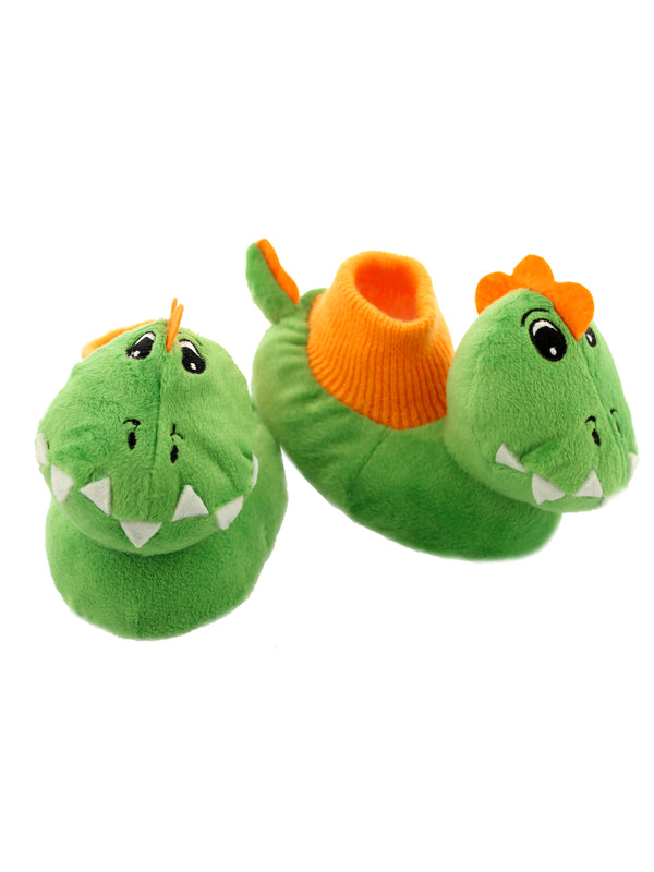 Yankee Toy Box Plush Dinosaur Toddler Boys Sock Top Slippers