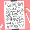 Mother Of The Year FREE Colouring Sheet!