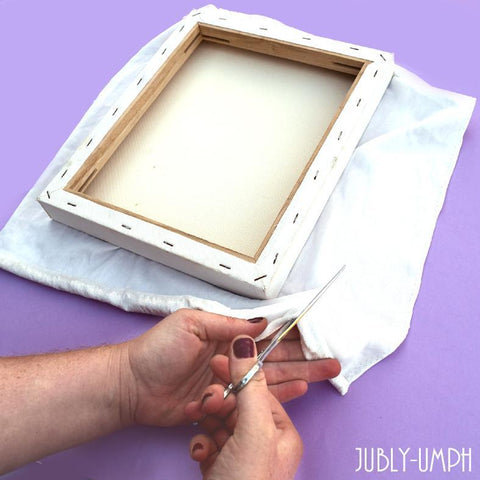 Measure your fabric for your brooch board and cut to size!- Brooch/Pin Board DIY with Jubly-Umph