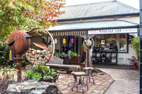 Portal 108 is a cute clothing and homewares store in Hepburn Springs Vic that stocks Jubly-Umph pendants, cardigan clips and art