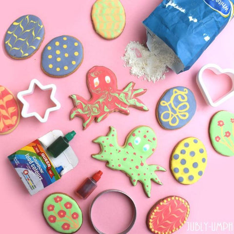 Easter cookies and easter monsters- suagr cookies decorated with fun designs