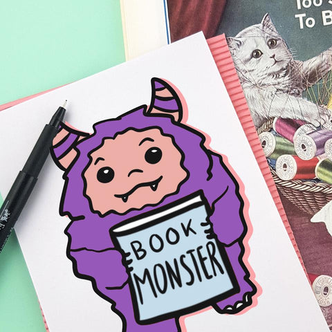 book monster illustration