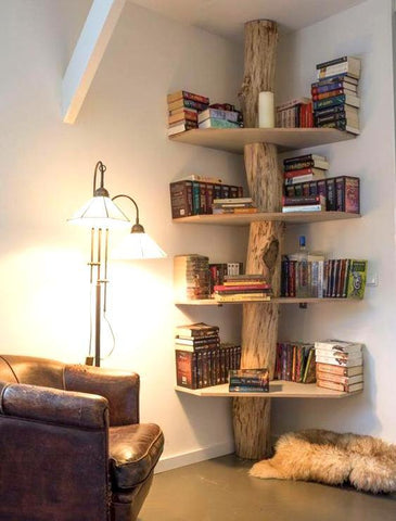 a book tree is the perfect way to store books