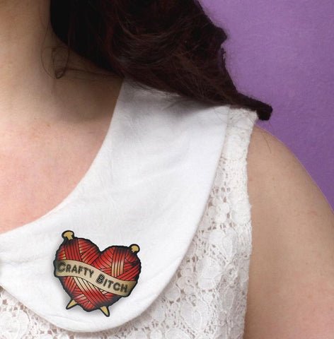 When your bold and crafty and a bit bad assy! you need this brooch to show off your naughty side