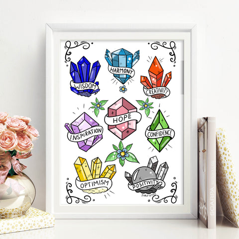 free downloadable crystal of courage print