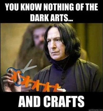do you cover everything in skulls, knit green squids or wsew witches capes with sequin trim? you might just be a dark crafter