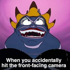 When you hit the front facing camera.... from the Jubly-Umph blog