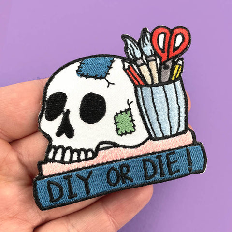 diy or die embroidered patch
