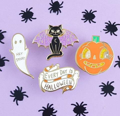 everyday is halloween hard enamel mini pin collection