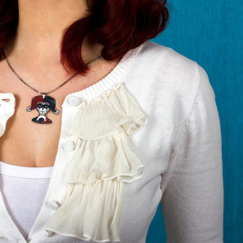 Harley Necklace is perfect for nerdy ladies and geeky jewelry lovers