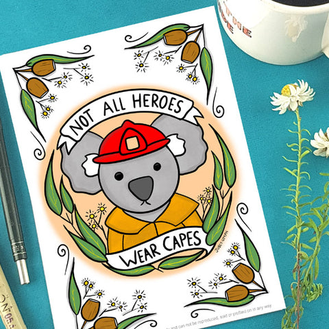 koala hero print by Jubly-Umph