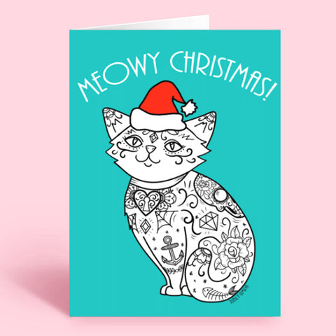 meowy christmas card- download for free
