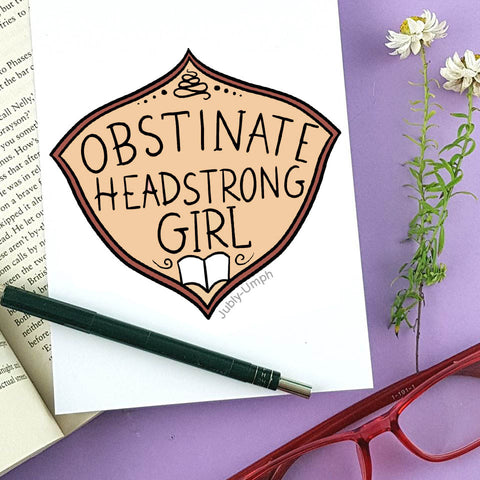 obstinate headstrong girl enamel pin