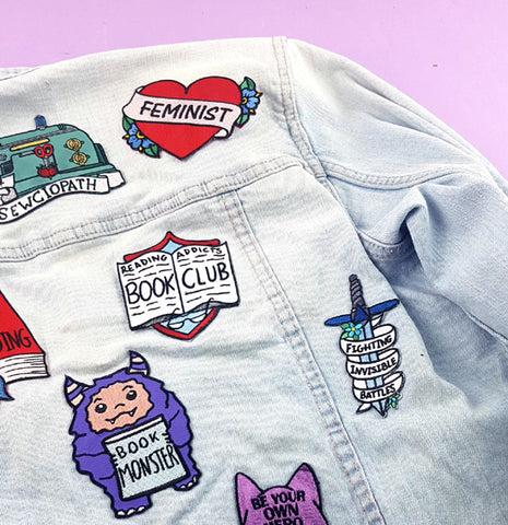 these new patches are perfect for jackets and bags
