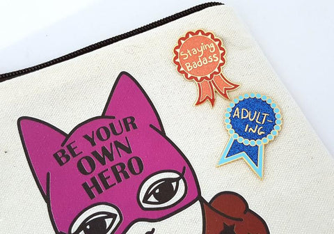 These hard enamel lapel pins are little awards you can wear