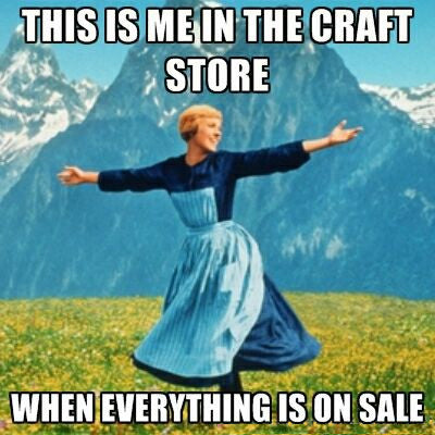 if you get turned on by the words 'craft sale' and open every email from your favourite stores you might be a frugal crafter
