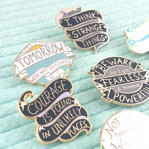 new enamel quote pins by Jubly-umph