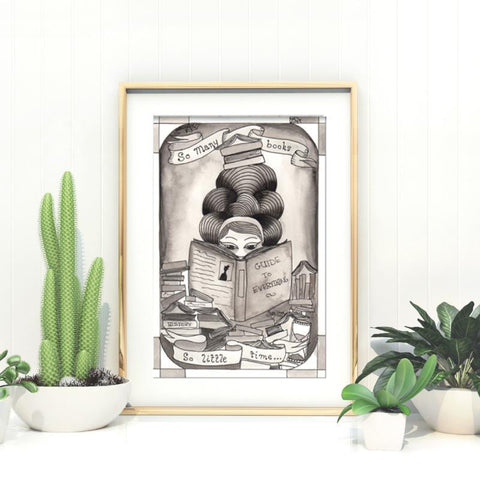 so many books art print by Jubly-Umph
