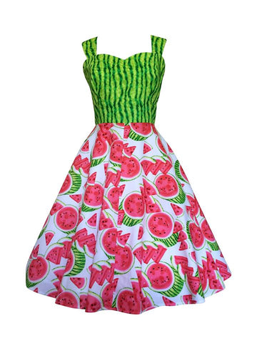 Watermelon dress by Pigtails and pirates. Love their quirky vintage style. Designed and made in Australia