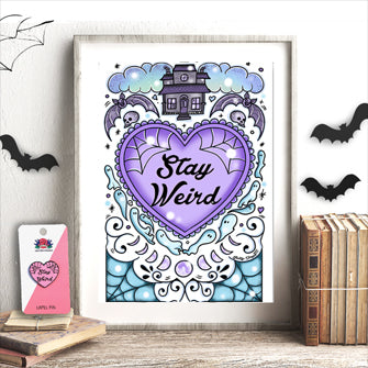 free spooky stay weird print
