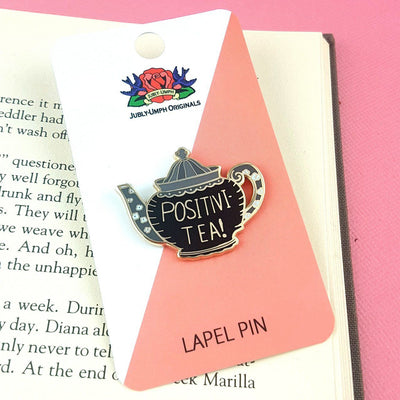 Positivi-Tea-Pot Lapel Pin