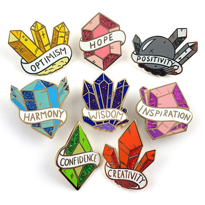 Crystals Of Courage Lapel Pin Set