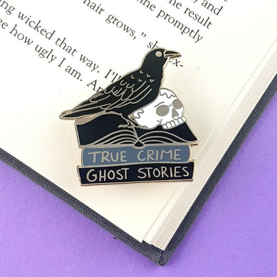 The Black Raven Reader Lapel Pin