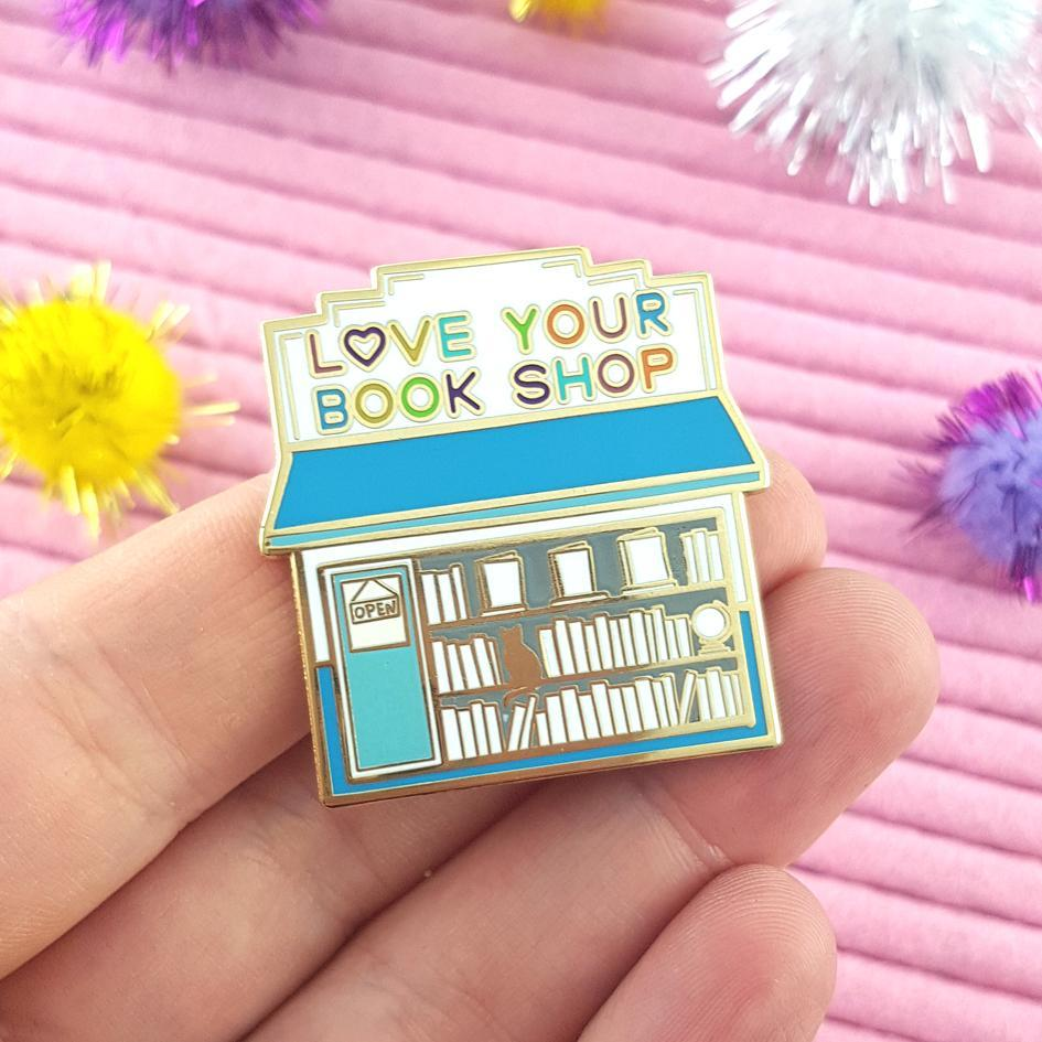 Love Your Bookshop Day Lapel Pin