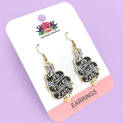 No Fucks Left Earrings
