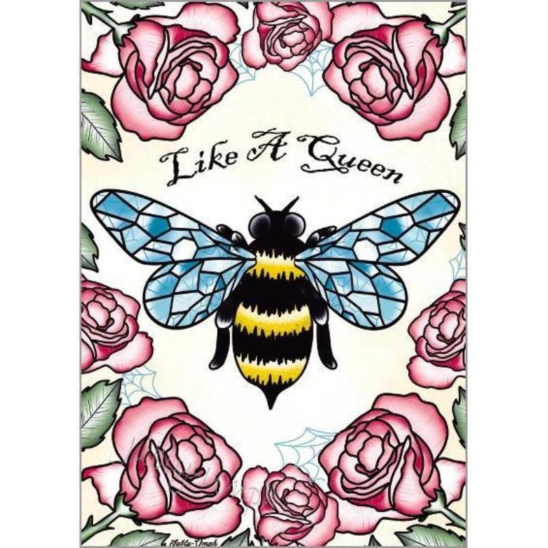 Like A Queen Bee Print - Jubly-Umph -  Print, - 2
