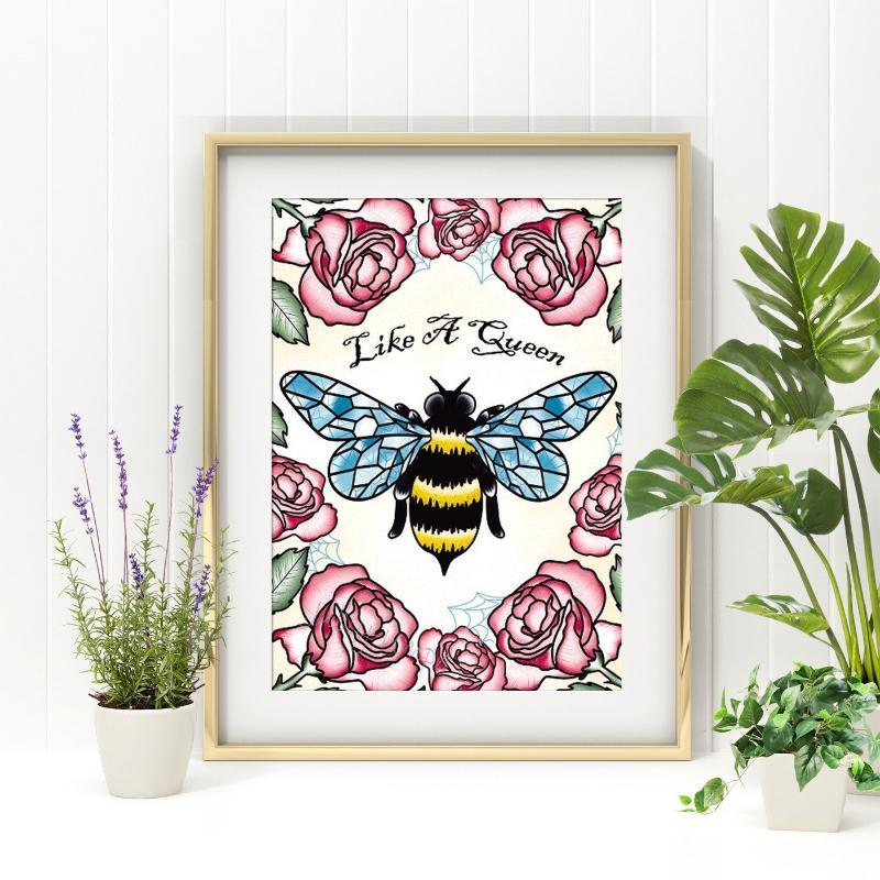 Like A Queen Bee Print - Jubly-Umph -  Print, - 1