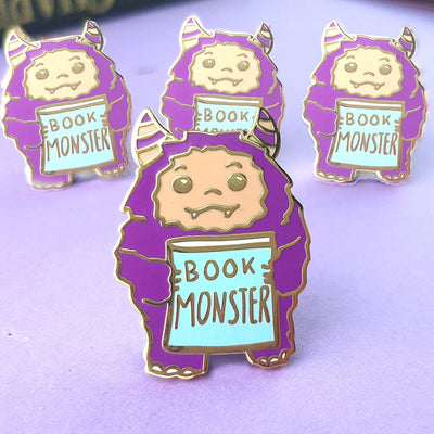 Book Monster Lapel Pin