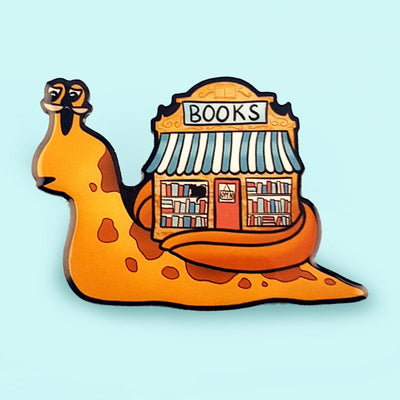 The Bookshop on a Snail Brooch