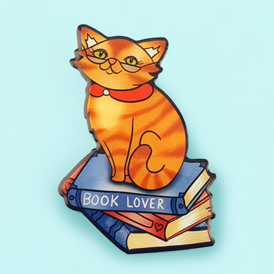 The Cat on a Stack Brooch